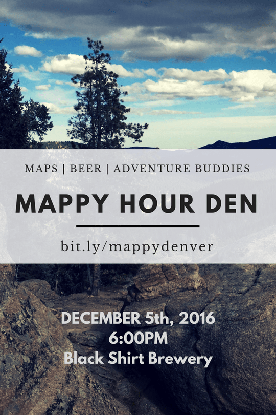 Mappy Hour Poster Denver
