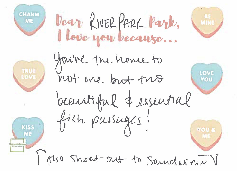 River Park Love Letter