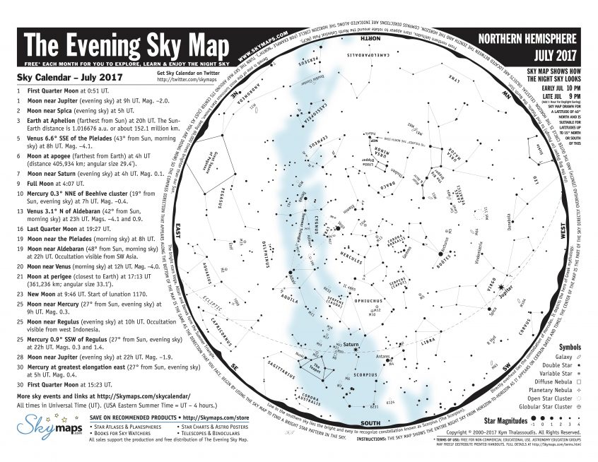 Images of Evening Sky Map - #rock-cafe