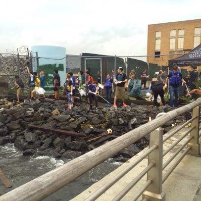Volunteers Cleaning Up Hudson River Park