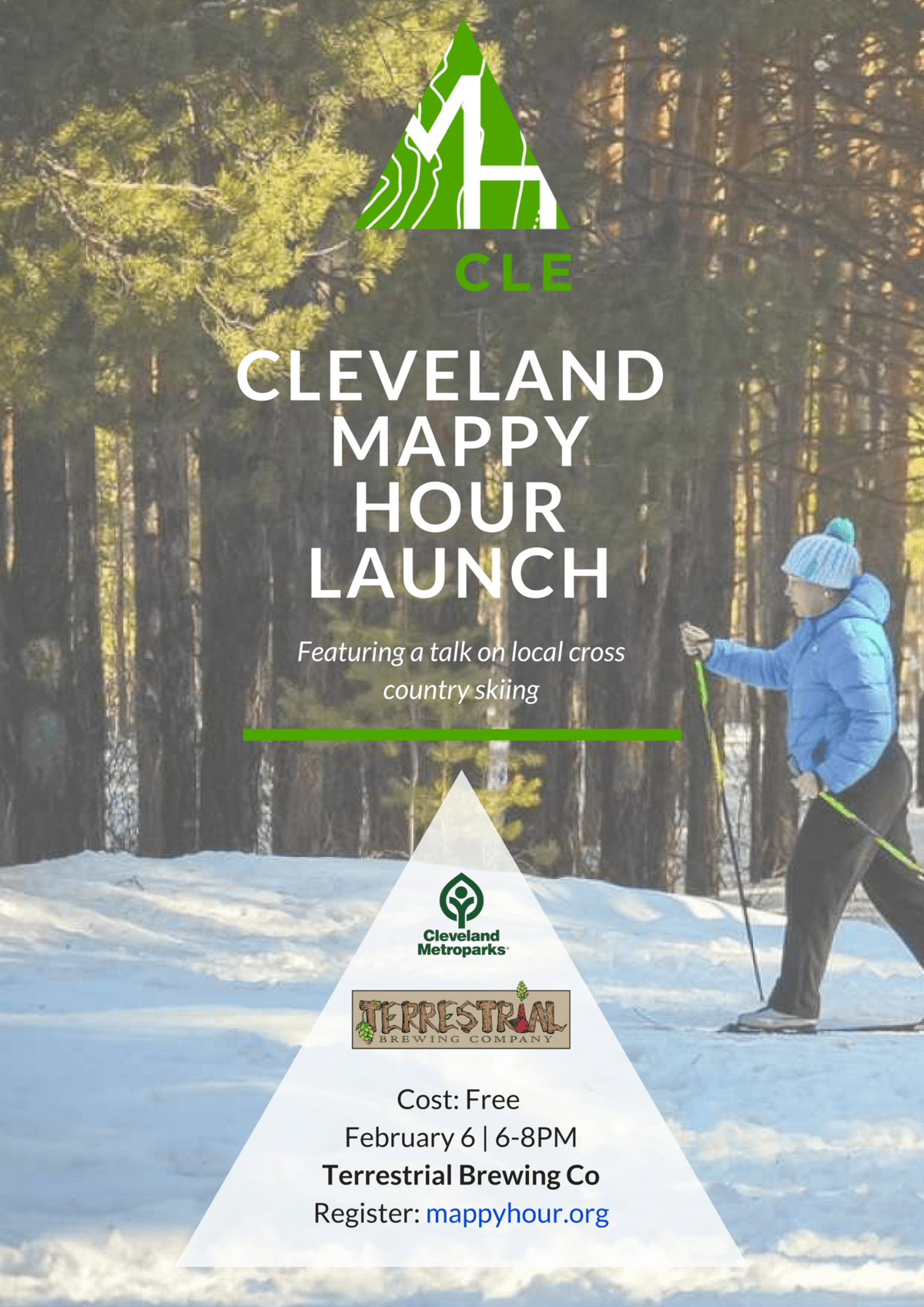 Mappy Hour Cleveland Launch Poster