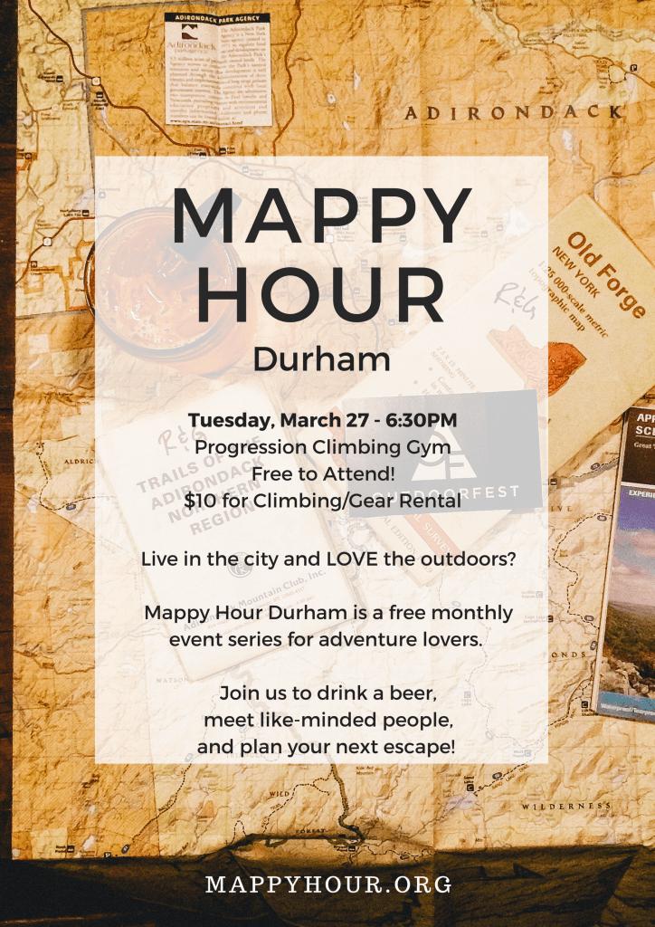 Durham Mappy Hour Announcement