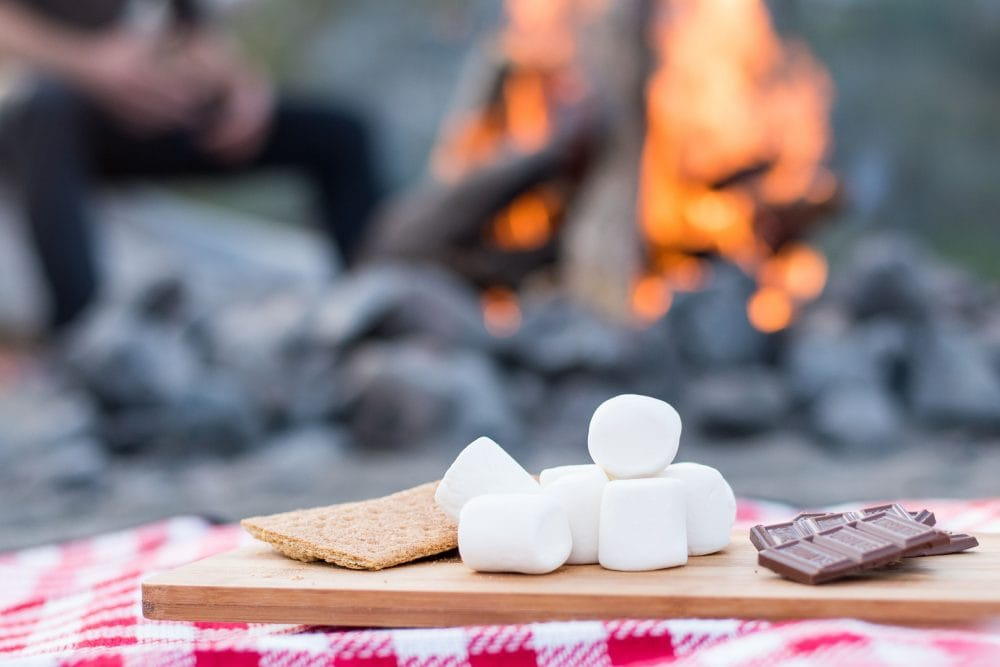 S'mores by a Campfire