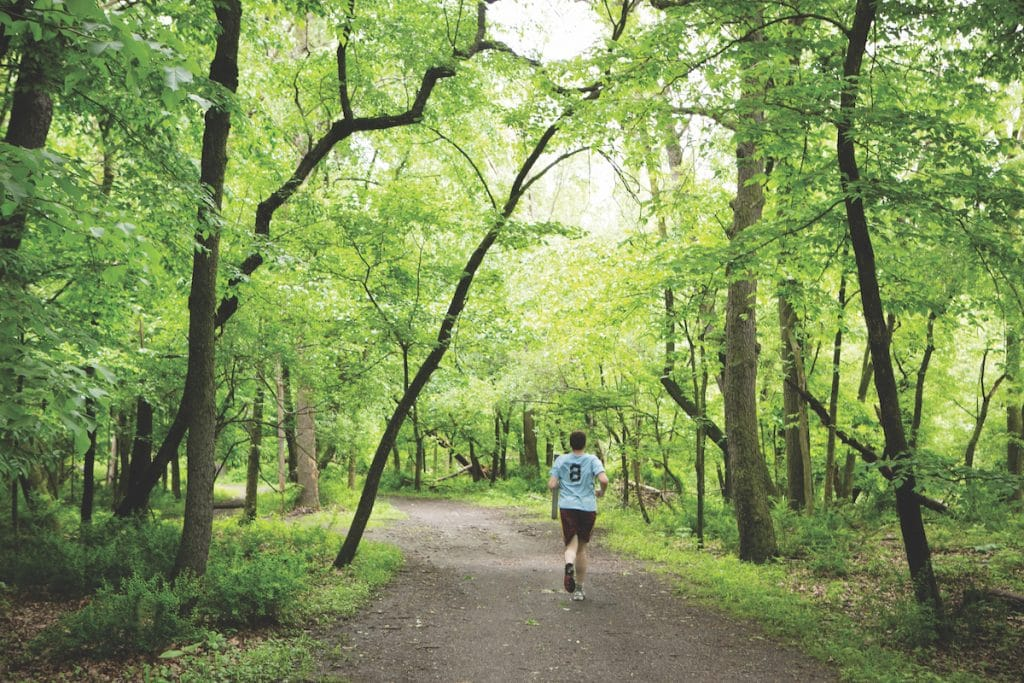 Runner in the Chicago Forest Preserves