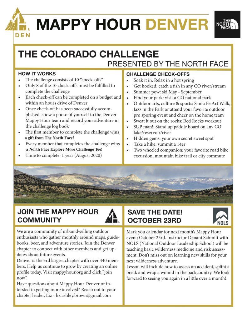 September Mappy Hour Denver Graphic