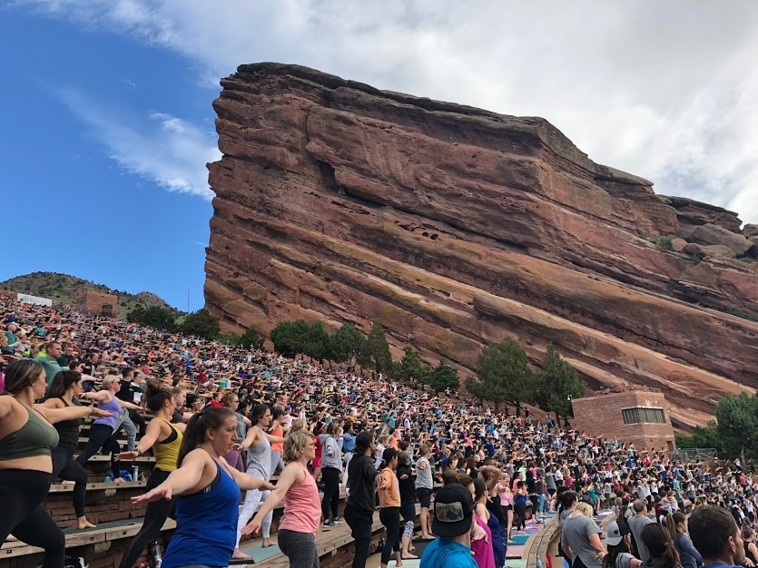 Yoga on Red Rocks